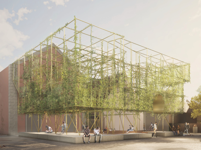 Construction fence on Ettinghausenplatz, © Nassauische Heimstätte