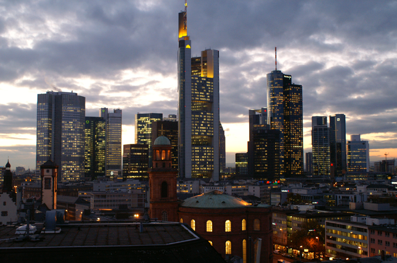 Evening view of the skyline, © Stadtplanungsamt Stadt Frankfurt am Main