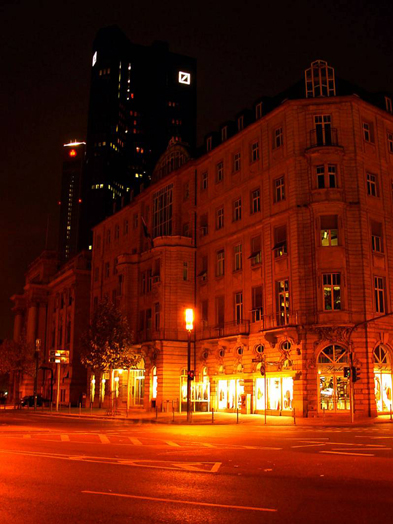 Shortcoming: Illumination without color reflection, Foto: BAS conceptlicht, © Stadtplanungsamt Stadt Frankfurt am Main