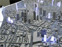 Photo: View of the model showing Frankfurt's new high-rise cityscape, © Stadtplanungsamt Stadt Frankfurt am Main