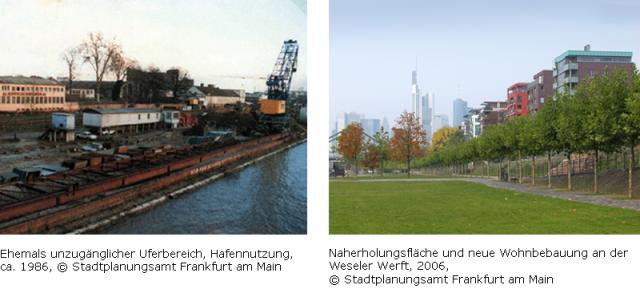 Example: urban redevelopment measure on Ostendstraße, before and after redevelopment
