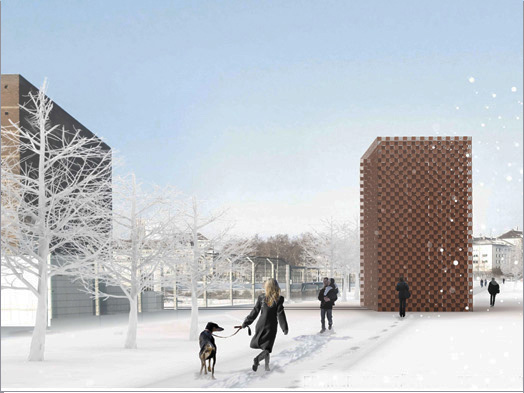 A work awarded 2nd prize (no. 128), Entwurf: LOOC/M Architekten GbR, Frankfurt am Main